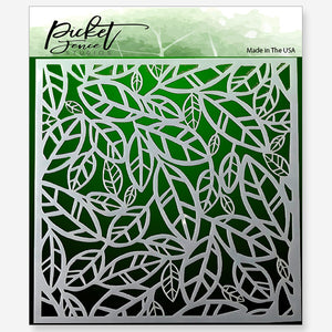 Funky Leaves Stencil