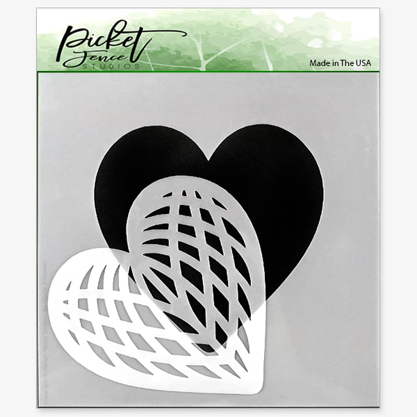 Spliced Heart Stencil
