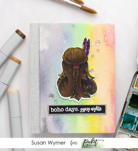 Boho Gypsy Girl and FREE Coordinating Die