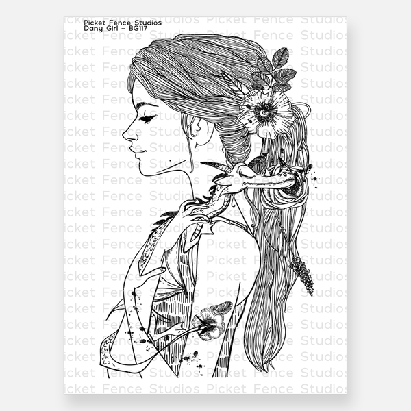 Beautiful Girl - Dany Girl Stamp with Coordinating Die