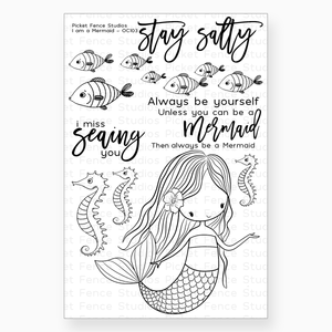 I am a Mermaid Stamp Set with Coordinating Die