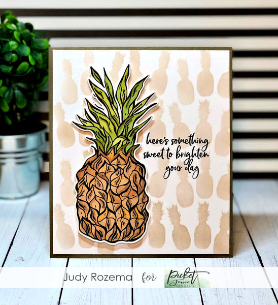 Pineapple Collage Stencil