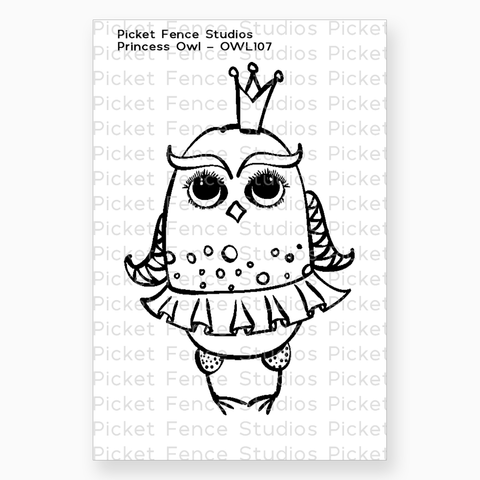 Princess Owl Stamp with Coordinating Die