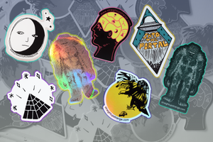 Straight UP Strange Sticker Set
