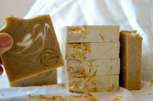 Cold Processed Soap (Calendula & Goats Milk - Anti tan fragrance free)