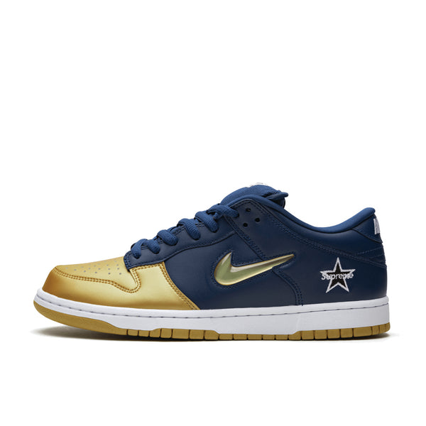 Nike SB Dunk Low Supreme Jewel Swoosh Gold