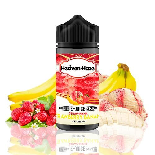 Heäven-Haze Straw-Nana Strawberry Banana Ice Cream 100ml