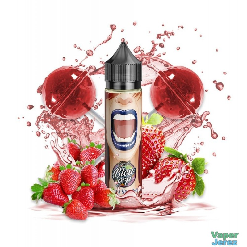 STRAWBERRY GUM LOLLYPOP E-LIQUIDO 50ML (BOOSTER) - SWEET BLOW POP
