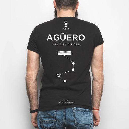 Aguero v QPR Shirt - The Goal Hanger