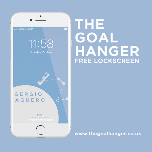 Aguero Lockscreen - The Goal Hanger
