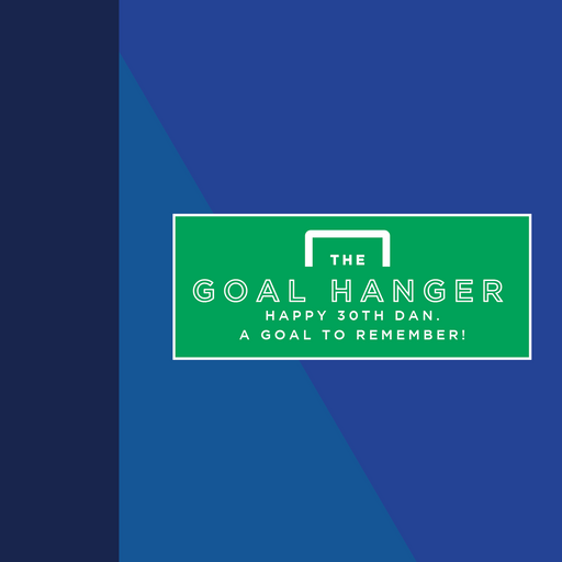 Add a personalised message - The Goal Hanger