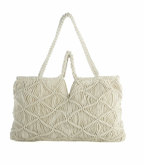 OM DOUBLE HANDLE BAG, IVORY
