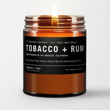 Load image into Gallery viewer, Naturally Calming Aroma Candle: Tobacco Rum in Coconut Soy Wax