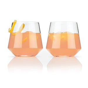 Angled Crystal Cocktail Tumblers