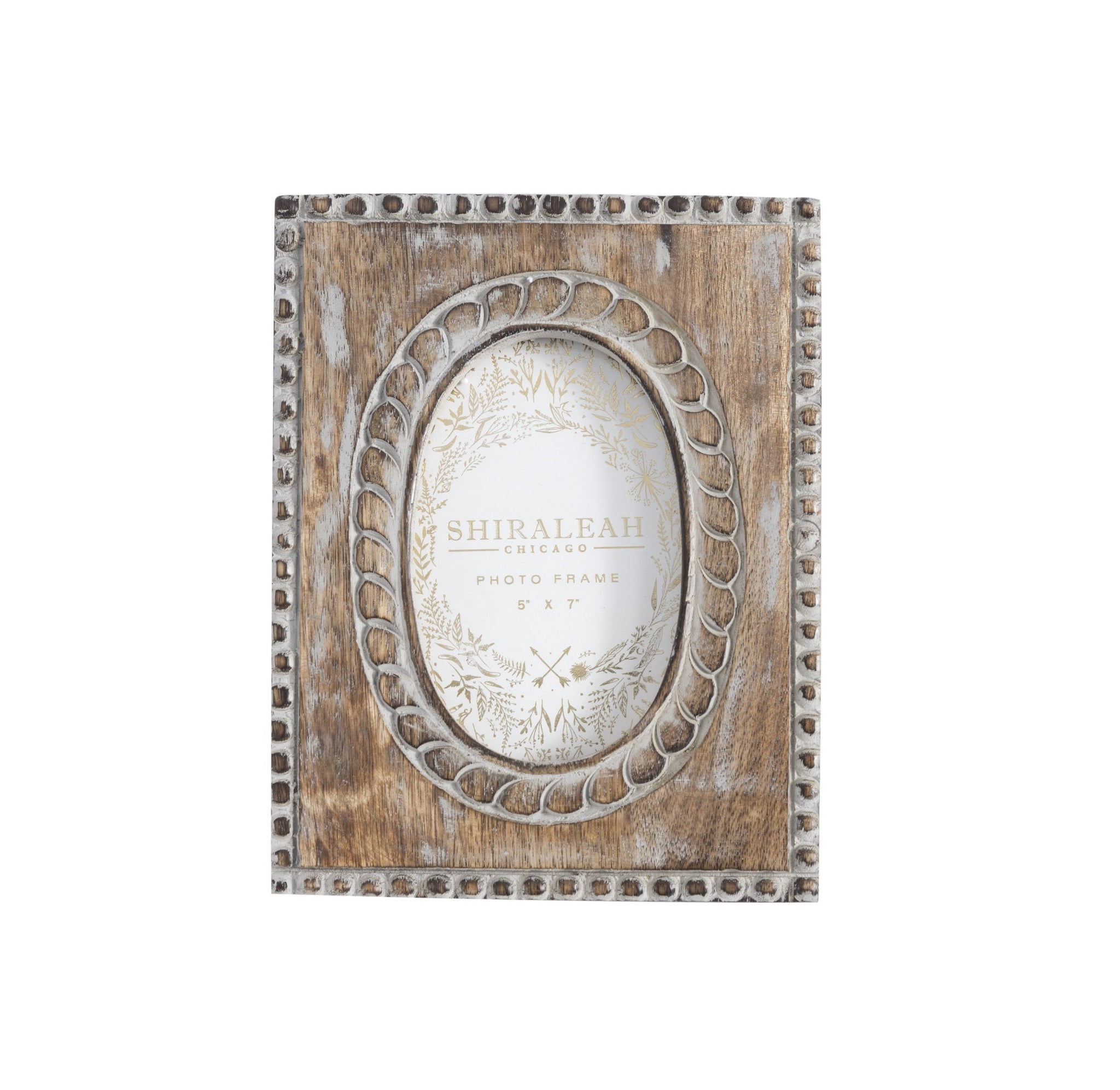 "MARAIS OVAL 4"" x 6"" PICTURE FRAME, GREY"