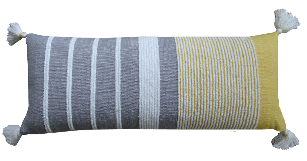 Decorative Long Grey Stripes Throw Pillow Cover