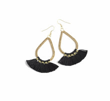 Load image into Gallery viewer, ROSALIE EARRINGS, BLACK