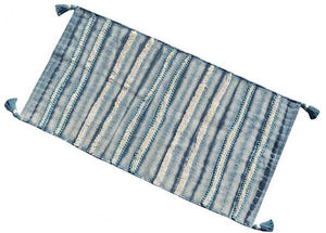 Chicos Home Blue & White Stripe Accent Rug