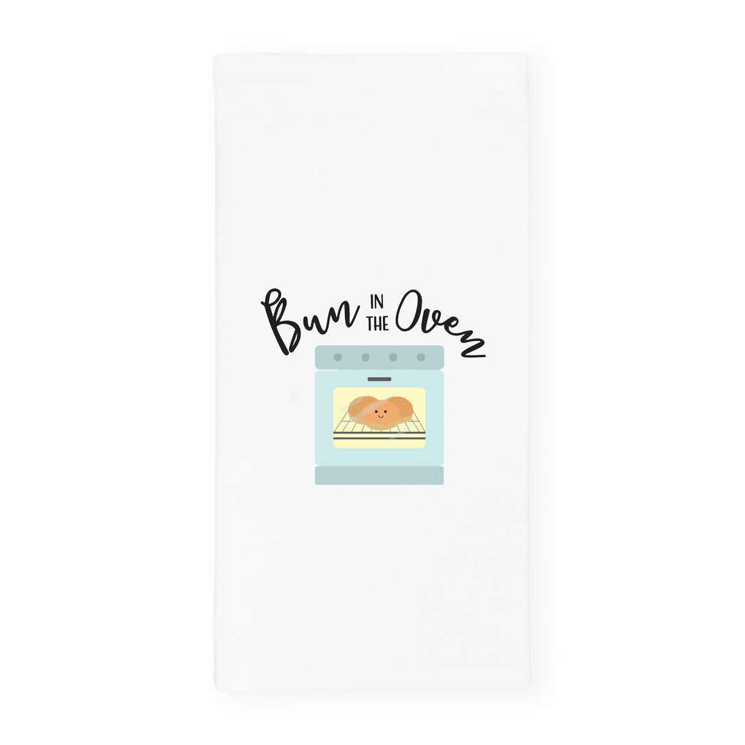 Bun in the Oven Cotton Canvas Kitchen Tea Towel