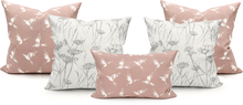 Load image into Gallery viewer, Swallow Birds Pretty Pink Pillow Cover