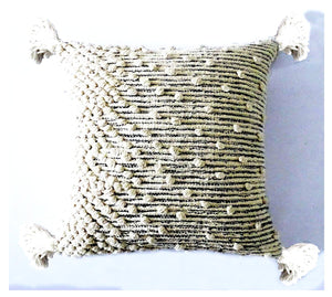 Chicos Home Throw Pillow Cover Beige Woven