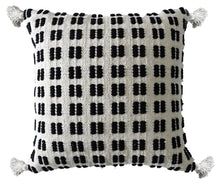 Load image into Gallery viewer, Black & Beige Check Pillow