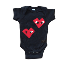 Load image into Gallery viewer, Baby Onesie - I Heart - mi cielo x Donald Robertson - Black