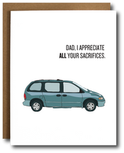 Load image into Gallery viewer, Minivan Dad Father's Day Card