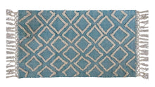 Load image into Gallery viewer, Sky Blue Diamond  Accent Rug