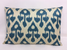 Load image into Gallery viewer, CHAMBRAY CHANDELIER - IKAT SILK/VELVET PILLOW