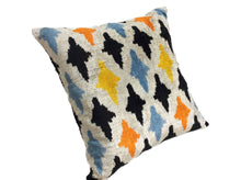 Load image into Gallery viewer, COLORFUL PEOPLE - IKAT SILK/VELVET PILLOW