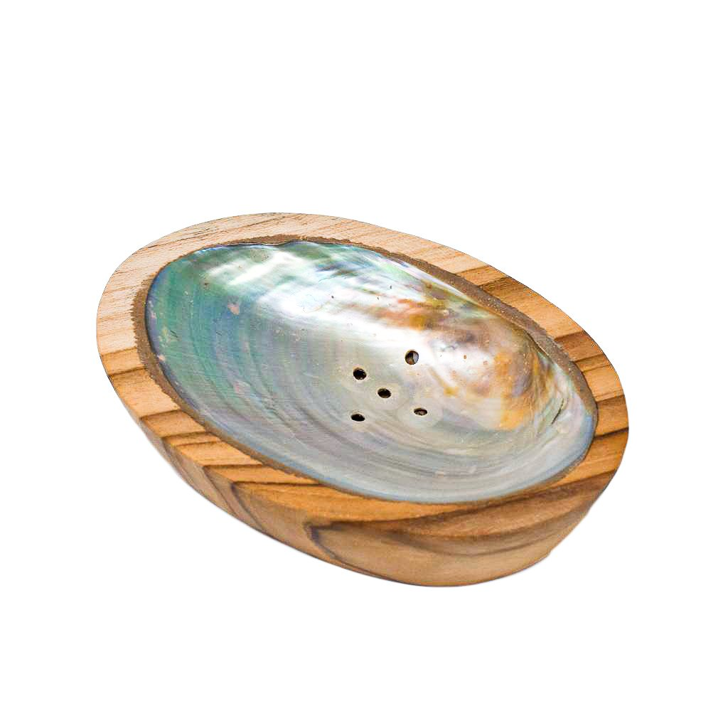 TEAK SHELL SOAP DISH - LARGE SIZE