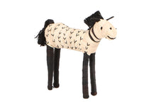 Load image into Gallery viewer, Black + Natural Raffia Horse