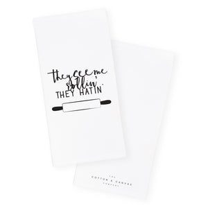 They See Me Rollin', They Hatin' Kitchen Tea Towel