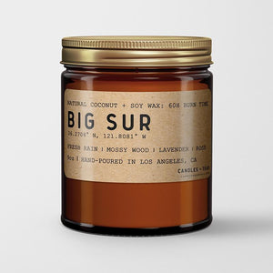Big Sur: California Scented Candle (Rain, Mossy Wood, Lavender, Rose)