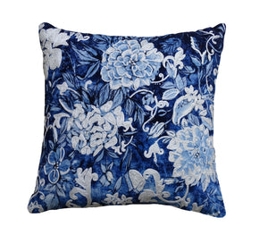 Decorative Throw Pillow Cover Fall Collection Blue