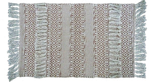 Chicos Homes Accent Rugs Brown And White Stripes