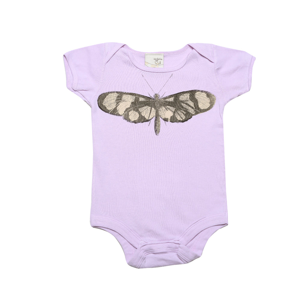 Organic infant bodysuit- Butterfly print