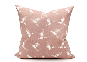 Swallow Birds Pretty Pink Pillow Cover