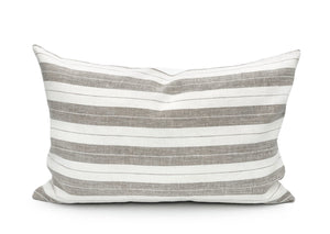 Merlin Linen Stripe Lumbar Pillow Cover