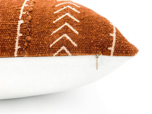 Mudcloth Rust with Cream Pattern Pillow Cover - 14x20