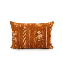 Load image into Gallery viewer, Mudcloth Rust with Cream Pattern Pillow Cover - 14x20