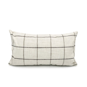 French Linen Plaid Pillow Cover