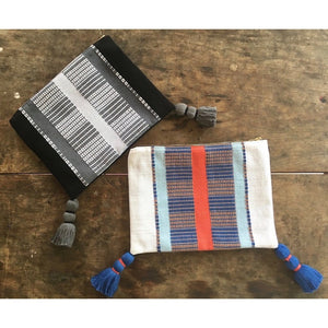 Black Striped Backstrap Clutch