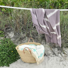 Load image into Gallery viewer, Lavender Tie Dye Turkish Beach Towel