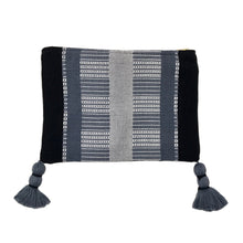 Load image into Gallery viewer, Black Striped Backstrap Clutch