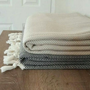 The Towel - Herringbone in Sand