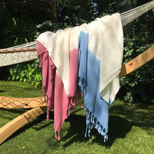Load image into Gallery viewer, Rose Dip Dye Turkish Beach Towel