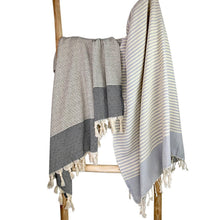 Load image into Gallery viewer, Textured Stripe Turkish Towel