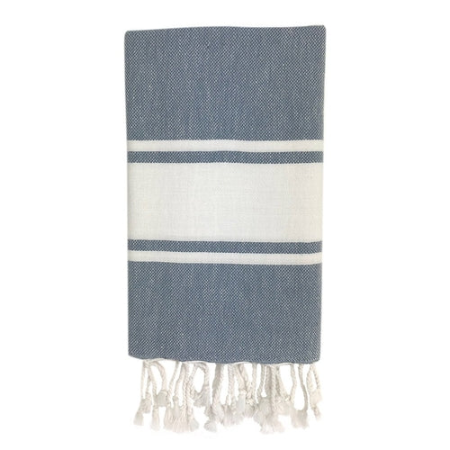 The Hand Towel - Stripe in Charcoal